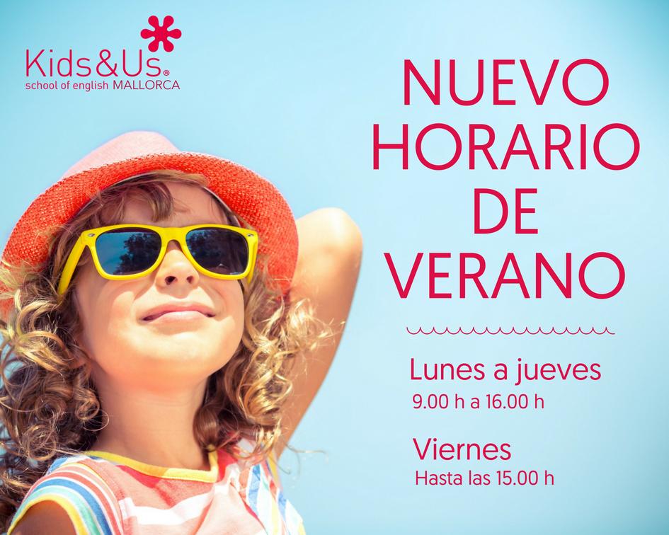 Horario de verano- centros Kids&Us Mallorca