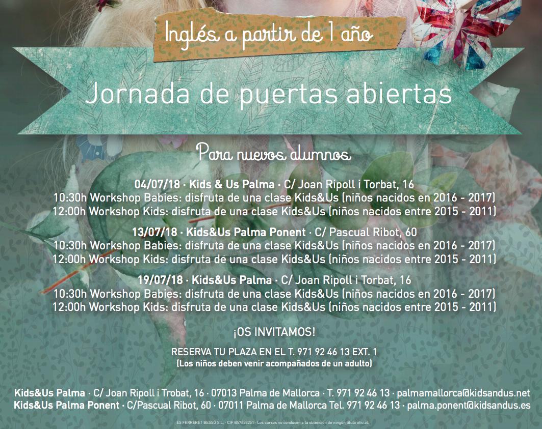 Jornada Puertas Abiertas Kids and Us
